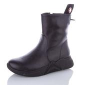 Зимние ботиночки из экокожи на натуральном меху