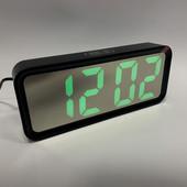 Часы электронные с ярким свечением настольные, зеркальные DT 6508