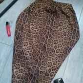 Обалденная тепленькая юбка леопард миди карандаш чит.опис