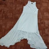 Пудровые необычное платье Coast uk14
