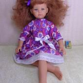Изящная высокая кукла Николь 57 см. В шикарном новом платье .
