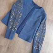 Фирменный пиджак с обалденными отделками на рукавах!!!