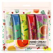 Набор 5 штук!!!Увлажняющий,шелковистый и ароматизированный крем для рук ,в упаковке!