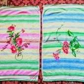 Два новых ярких махровых детских полотенца в одном лоте,76×44