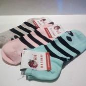Женские носочки, пандочки. В лоте 3 пары. Размер 36-40.