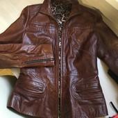 Натуральна шкіра осіння курточка на підкладці рS-M
