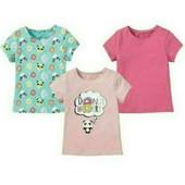 lupilu.комплект из трёх хлопковых футболок 98/104 замеры