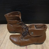Ботинки із натуральної шкіри, утеплені флісом 37 рр і устілка 24 см з носиком.