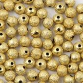 Бусинки с золотым напылением 4мм 100шт.