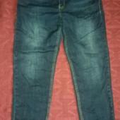 Стильные джинсы под ботинки или кроссовки (легкое б/у)