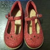Нарядные туфли сандалии золотистые Next р.22 (5)