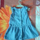 Платье на малышку 86р