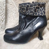 Стильные новые кожаные полусапожки. 38 размер. Отличное качество!!!