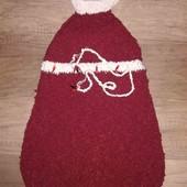 вязаное платье-сарафан ручной работы