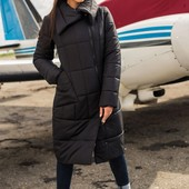 Стильная женская куртка-пальто, Размеры 40, 42, 44, 46! Цвета только хаки и бутылка!