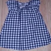Клетчатое хлопковое платье некст на 2-3 года