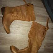кожаные женские сапоги 41рр