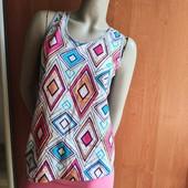 Блуза майка комбинированная