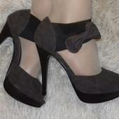 Туфельки на шпильке с открытыми пальчиками р36-40