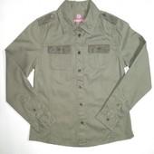 Pepperts Германия Плотная стильная рубашка 100% коттон 140р