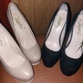 Туфли YSL Италия 35 размер натуральная кожа и замш