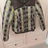 Куртка бомбер теплая на 12-15лет