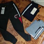 Спортивные брюки с начесом для мальчиков Ming Feng 140/146-152/158р.р.