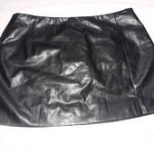 мини юбка кожзам