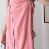 Пушистое полотенце - халат. Микрофибра 135х85 см.