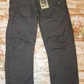 Модные котоновые брюки на трикотажной подкладе glo-story 152,164-р