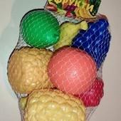 Нп бесплатно Набор крупных пластиковых фруктов 8шт