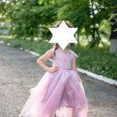 Оригинальное выпускное платье на 6-7 лет (122-128) платье+юбка