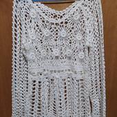 =Шикарнейшая ажурная блуза с жемчужными бусинами. УП скидка 10%