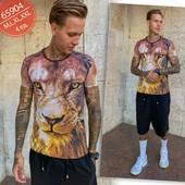 Мужская коттоновая футболка пр-во турция, размер 2xl