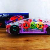 Машина Concept Racing прозрачная (кружится/музыка/свет/) | Машина с шестеренками |