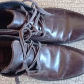 Кожаные ботинки зима/демисезон