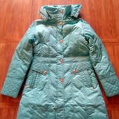 Ярко голубая удлиненная куртка