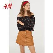 Блуза с открытыми плечами в цветочный принт H&M, р.S
