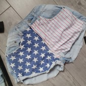 Джинсовые шорты модные потёртости