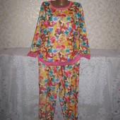 Тёплая флисовая большая пижама 20-22р.,
