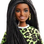 Барбі брюнетка з косичками Barbie fashionistas doll 144 оригинал Барби