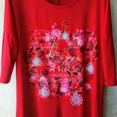 Красивая, яркая и качественная футболка из вискозы, Турция на 52-54 р.р.
