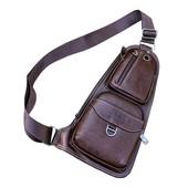 Мужская сумка барсетка Tina Jeep , эко кожа коричневая