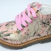 ✅Последние!! ❤красивые демисезонные ботинки в горошек ™ луч 22р. Качество отличное☆☆☆☆☆