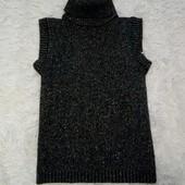 Черная теплая блузочка XS/S с люрексовой нитью + серьги в подарок!!