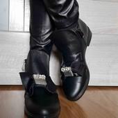 кожа вдемисезонные ботинки на флисе