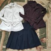 Собирай лоты) экономь на доставке) Лот для школьницы 11-14 лет ( 2 блузки+ юбка)