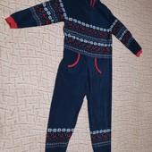 Тёплый уютный кигуруми пижама, модный принтсмотрите замеры