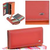 Фирменный кожаный кошелек с отделом для карточек