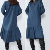 Хлопковое платье рубашка Zara